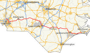 North Carolina Map Of Cities And Towns North Carolina Highway 24 Wikipedia