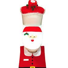 amazon com eiala christmas decoration santa toilet seat cover