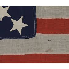 1876 American Flag Jeff Bridgman Antique Flags And Painted Furniture 37 Stars In A