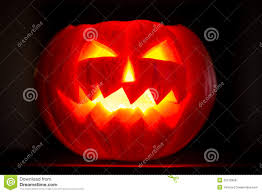 scary halloween pumpkins jack o lantern candle lit royalty free