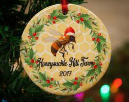 bee ornament etsy