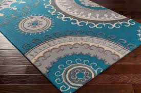 artistic weavers lounge lge 2294 carmen teal dark blue rug