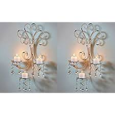 Wall Candle Holders Sconces Amazon Com Wall Chandelier Candle Holder Sconce Shabby Chic