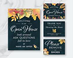 fall real estate welcome to our open house printables welcome