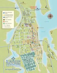 Map Of St Augustine Fl Downtown Map St Augustine Sailing