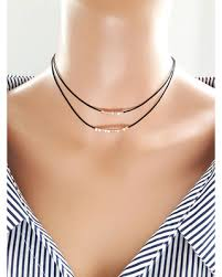 black double choker necklace images Summer 39 s hottest sales on rose gold beaded choker necklace gold