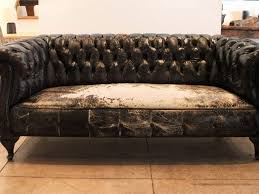 Distressed Leather Chesterfield Sofa Barrel Chair Leather Chesterfield Sofa Brown Leather