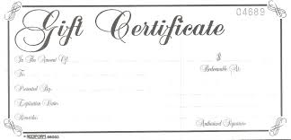 gift certificates gift certificate