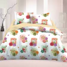arista 2 cotton bed linen set duvet cover u0026 pillow cases