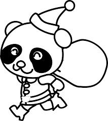 clipart santa panda coloring page