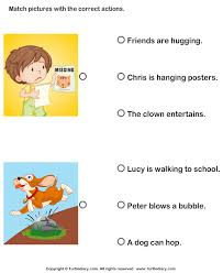 action verbs choose the right sentence turtlediary com