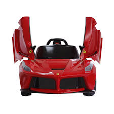 ferrari prototype cars licensed la ferrari electric ride on toy car 1 4 lights 6v battery