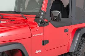 jeep wrangler mirrors kentrol ez detach mirrors for 97 17 jeep wrangler tj jk