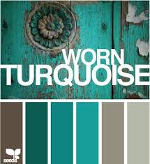 color scheme turquoise and grey gray color powder room and