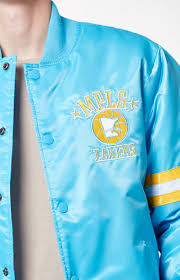 lakers light blue jersey starter minneapolis lakers satin bomber jacket for men light blue