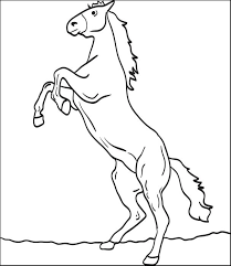free printable horse coloring kids 4