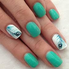 green gel nail design black pink and mint green gel nail art