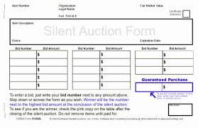 sample bid sheet template silent auction bid form template