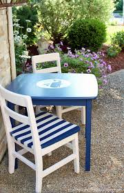 nautical chairs kids table makeover confessions of a serial do it yourselfer