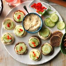 and easy canapes cucumber canapes recipe taste of home