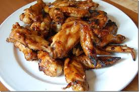 grilled chicken wings with hoisin sauce and honey soupbelly