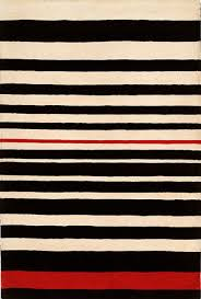 Red White And Black Rug Red And White Striped Rug Rugs Decoration