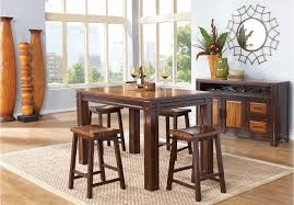 julian place chocolate 4pc counter height dining room dining