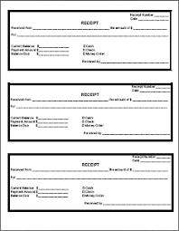 printable cash receipt book receipt template