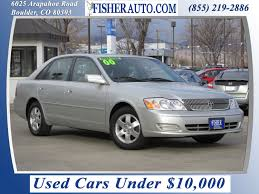 toyota car yard used cars under 10 000 2000 toyota avalon xl silver 7 900