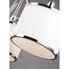 Drum Shade Island Lighting Feiss Lighting Prospect Park Satin Nickel Chrome Island Light