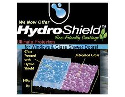 hydroshield coating protection shower glass water spot removal