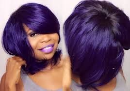 no part weave hairstyles purple bob hairstyles how to do quick weave no part purple saga