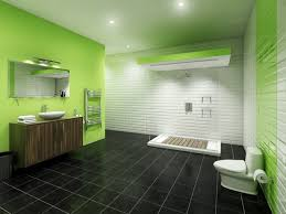 bathroom tile colors combine black ground green wall color tiles