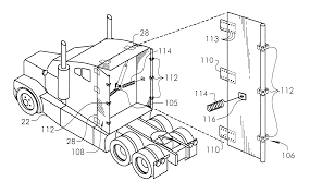 volvo truck parts diagram patent us6428084 fuel efficient tractor trailer system google