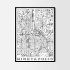 minneapolis gift map art prints and posters home decor gifts