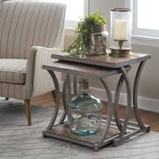 Livingroom End Tables Belham Living Edison Reclaimed Wood Nesting Tables Save Space