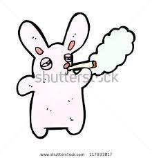 smoking rabbit cartoon stock vector 87031856 shutterstock
