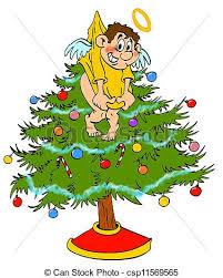 christmas tree angel christmas tree topper angel angel stock