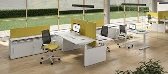bureaux originaux bureau pour open space en mélaminé design original