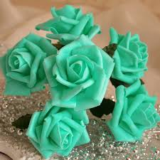 turquoise roses pool blue artificial flowers turquoise roses for wedding decor