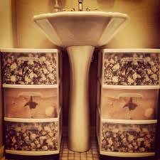 Bathroom Storage Cheap by Our First Pinterest Inspired Diy Project For The Bathroom 15