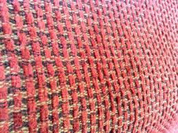 Retro Upholstery Retro Vintage Herculon Upholstery Fabric 1 Yard Red Black Gold