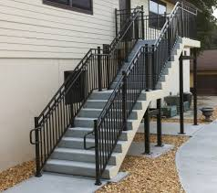 outside stairs design stair railings exterior metal rickkimphotography outdoor metal stair