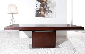 Modern Dining Table Extendable Zenith Modern Red Oak Extendable Dining Table