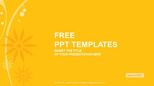 widescreen powerpoint templates orange floral abstract powerpoint
