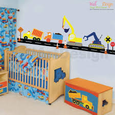 Wall Decals For Boys Room Vinyl Wall Decal Boys Construction Vehicle Set Vinyl Wall