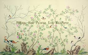 chinese inspired wallpaper wallpapersafari hand painted chinese style silk wall mural yrs