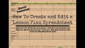 Spreadsheet Editor How To Create And Edit Your Own Homeschool Lesson Planner