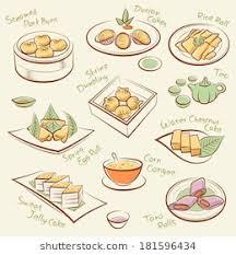 global cuisine set food line drawing cantonese เวกเตอร สต อก 181425482