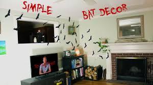 Diy Halloween Wall Decorations Diy Halloween Bat Decorations Fast Easy Cheap Youtube